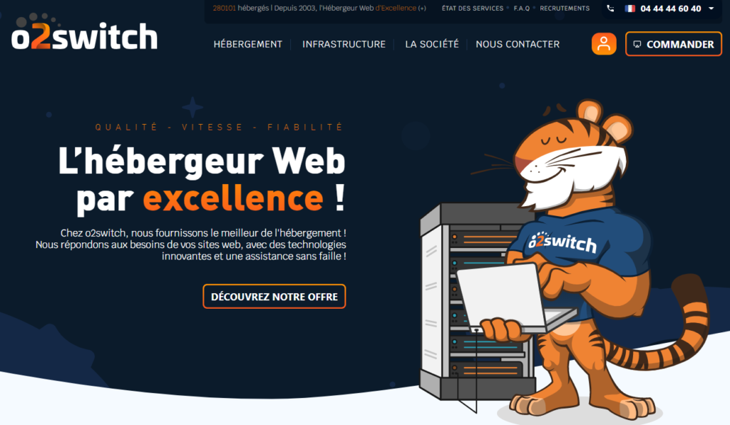Hébergement WordPress O2 Switch