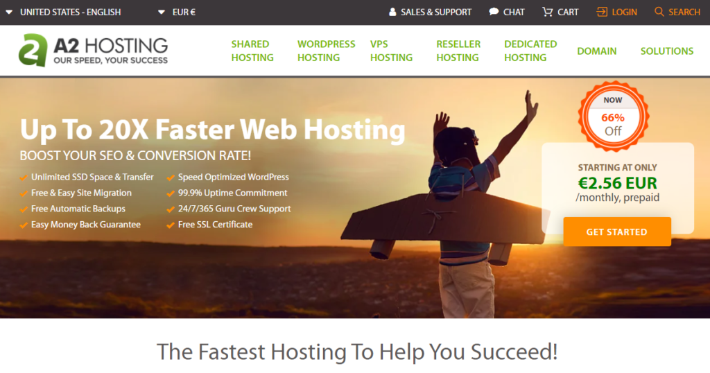 Hébergement WordPress A2 Hosting