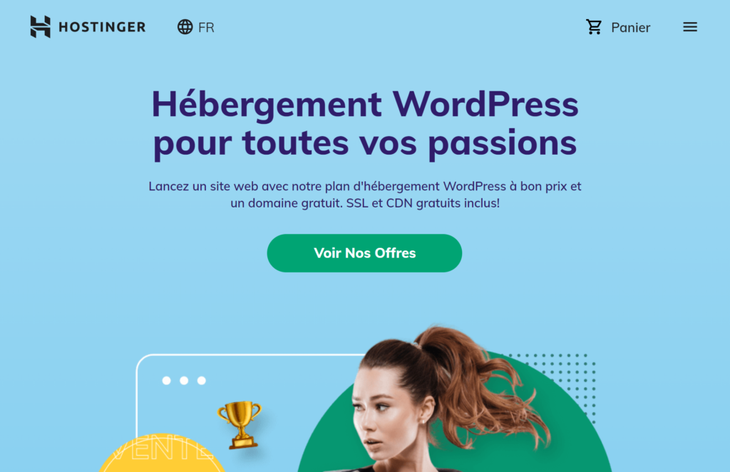 Hébergeur WordPress Hostinger